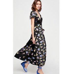 Free People Gorgeous Jess Wrap Midi Dress Large